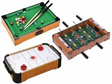 "20"" Compact Table Top Football,Air Hockey,Pool Game Set Children Family Fun Gift"