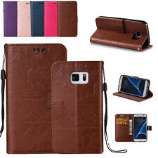 Luxury Magnetic Flip Cover Stand Wallet Leather Case For Samsung Galaxy Phone