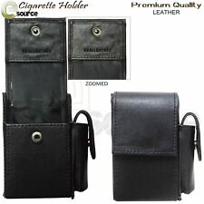 Leather Cigarette Case With Lighter Pouch Leather Cigarette Packet Holder