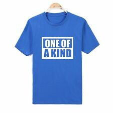 Fashion Words 'ONE OF A KIND' Series Men's Casual Short Sleeve T-Shirt Cotton