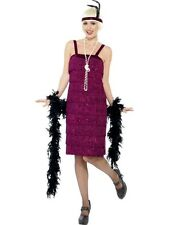 Adult 1920s Red Jazz Flapper Ladies Fancy Dress Hen Night Costume Outfit