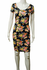 Womens New Look BodyCon Dress Floral Print Black Size 8 to 18 Ladies WD23.1