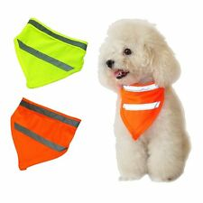 Pet Dog Triangle Collars Puppy Safe Luminous Reflective Fluorescent Square Scarf