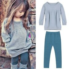 Toddler Infant Baby Girls 2PCS Outfits Tee T-shirt Tops+Long Pants Trousers Set