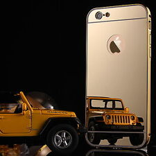 Metal Bumper Mirror / Clear Case Cover Screen Protector fr Apple iPhone 7 / Plus