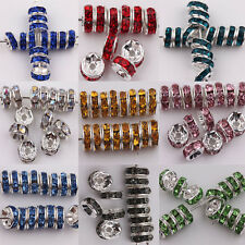 Wholesale 50/100Pcs Acrylic Silver Plated Spacer Loose Beads Charms Making DIY