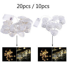 LED Metal Heart Shaped String Fairy Light Christmas Party Festival Home Decor