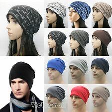 Unisex Mens Womens Hip-Hop Baggy Cotton Knitted Travel Dance Cap Ski Beanie Hats