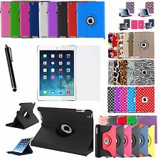 360 Rotating Folio Case Cover +Stylus +Screen Protector For Apple iPad Air 1 2