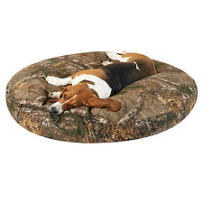 "Paw Tex / Realtree® Camouflage XTRA Camo Dog Bed ~ 3 Round Sizes 27"" 40"" 50"""