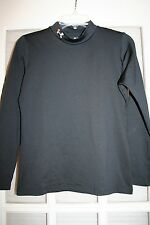 Boy's Youth XL UNDER ARMOUR Cold gear Shirt Mock Turtleneck Fitted black L/S
