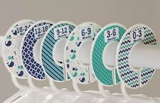 Nautical boy #c125 Baby Closet Dividers Clothes Organizers 6 whale navy