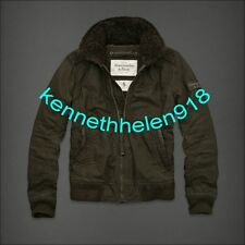 NWT ABERCROMBIE & FITCH MENS GILL BROOK JACKET COAT OLIVE GREEN SIZE MEDIUM A&F