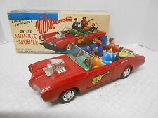1967 ASC BATTERY OPERATED MONKEE MOBILE TIN FRICTION TOY CAR THE MONKEES JAPAN