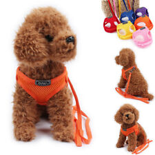 Adjustable Dog Puppy Cat Soft Mesh Harness Pet Control Safety Strap Vest Collar