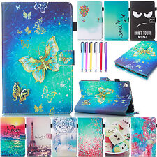 For Amazon Kindle Fire Magnetic Patterned Leather Wallet Card Case Stand Cover