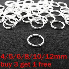 4 5 6 7 8 10 12mm Metal Double Loop Split Jump Ring Open Jump Rings Silver Plate
