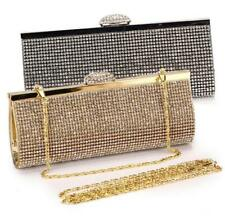 Elegant Rhinestones Clasp Flap Clutch Evening Wedding Party Prom Handbag Purse