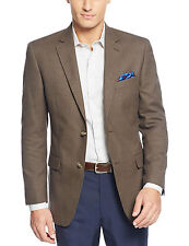 TASSO ELBA Olive Green & Navy Blue Houndstooth Two Button Sportcoat Blazer