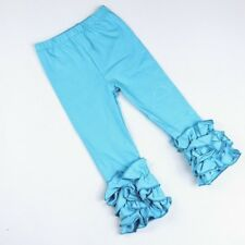 Girls Icing Ruffle Leggings,Icings Persnickety toddler ruffle pants,aqua pink Tr