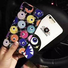 Cute Cartoon Big Eye Soft Frame Hard Back Case for Apple iPhone 7 7Plus 6 6Plus