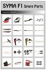 RC Syma F1 Remote Control 2.4G 3CH Armor Model Helicopter Accessories Spare Part