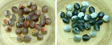 20pcs Matte Half Rustic Etched Czech Glass Round Faceted Fire Polished Beads 8mm