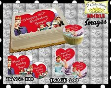 I Love Lucy Birthday Cake topper Edible Icing Image Photo sheet sugar paper easy