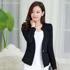 Women Spring Slim Fashion Casual Jacket Long Sleeve One Button Blazer