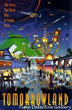 Vintage Tomorrowland Disneyland Poster - Available in 3 Sizes