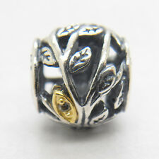 Authentic Genuine S925 Sterling Silver TUMBLING LEAVES CHARM Bead