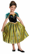 Frozen Anna Coronation Child Girls Costume Disney Princess Fancy Dress Disguise