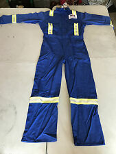 BIG BILL FR (Flame Resistant) 7oz. Work Coveralls-NEW-Reflective Piping-BLUE