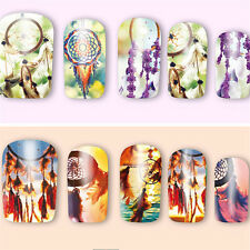 New Dream Catcher Full Water Nail Art Stickers Decals Manicure for Nail Polish