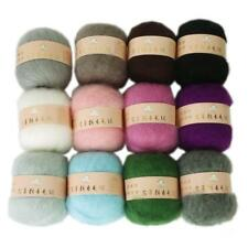 Wholesale Skein Lot Angola Mohair Cashmere Wool Knitting Yarn Crafts 12 Colors