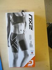 2XU Women WA1932b Compression Shorts Black SMALL NEW IN BOX