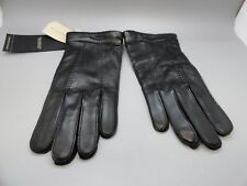 $425 New Burberry Men's Black Cashmere Sheep Leather Gloves London Touch Luca