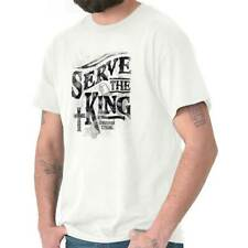 Serve The King Christian T Shirts Jesus Christ Cross Gift Idea T-Shirt Tee