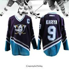 Anaheim Mighty Ducks Paul Kariya #9 Purple Hockey Jersey Stitched Kariya Jersey