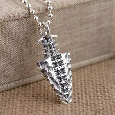 925 Sterling Silver  fishbone style  tag pendant charm jewelry S1075