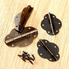 Vintage Hinges with Screws Hardware Jewelry Chest Cabinet Retro Wooden Box Hinge