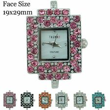 New Ladies Couture Rhinestone Square Beading Fashion Watch Face 19x29mm