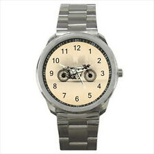 NEW Wrist Watch Stainless Unisex Classic Retro Norton Motorcycles Racing