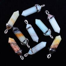 28 Choices Mixed Gemstone Crystal Healing Point Chakra Reiki Pendant Beads Chic