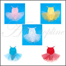 Baby Kids Children Girl Ballet Tutu Dance Party Dress Leotard Straps Skirt