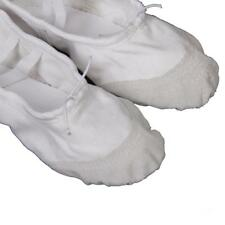 White Childrens Girls Boys Canvas Ballet Dance Fitness Shoes Slippers Gym Favors