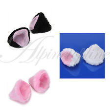 Halloween Gothic Lolita Fancy Cosplay Cat Ears DIY Hair Clip Pin Free Shipping