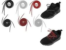 "47"" Round Rope Reflective Shoelaces Running Jogging Shoe Boot Laces Shoestring"