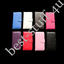 Flip Magnetic Leather Wallet Card Case Cover Fits IPhone Apple Mobile Phone ^90