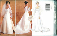 Butterick 4289 Wedding Bridal Bride Dress Gown Lace Sewing Pattern UNCUT FF